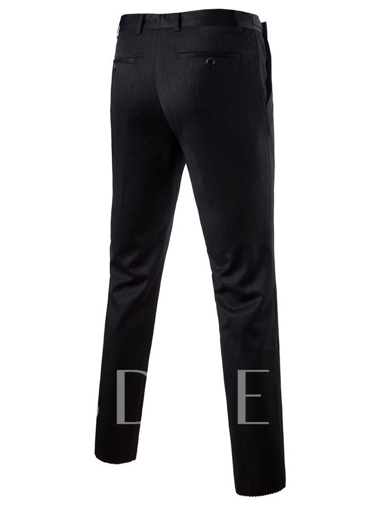Plain Pants Casual Single-Breasted Men's Dress Suit