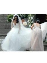 Cathedral Long Sleeves Floor-Length A-Line Church Wedding Dress 2021