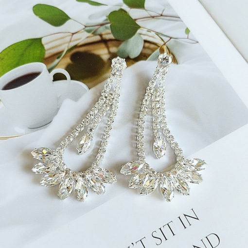 Diamante Sweet Rhinestone Anniversary Earrings