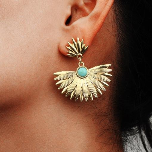 Bohemian Gemmed Alloy Gift Earrings