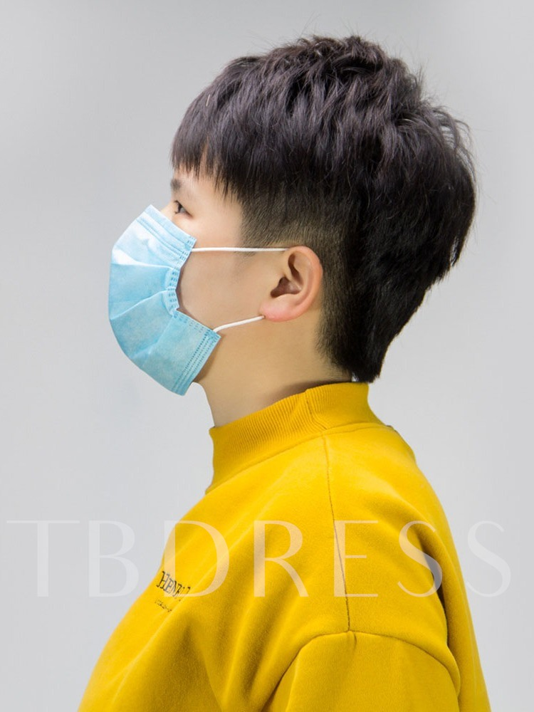 Disposable Blue Protective Breathable Mask Waterproof And Dust Proof To Prevent Haze(50/Package)