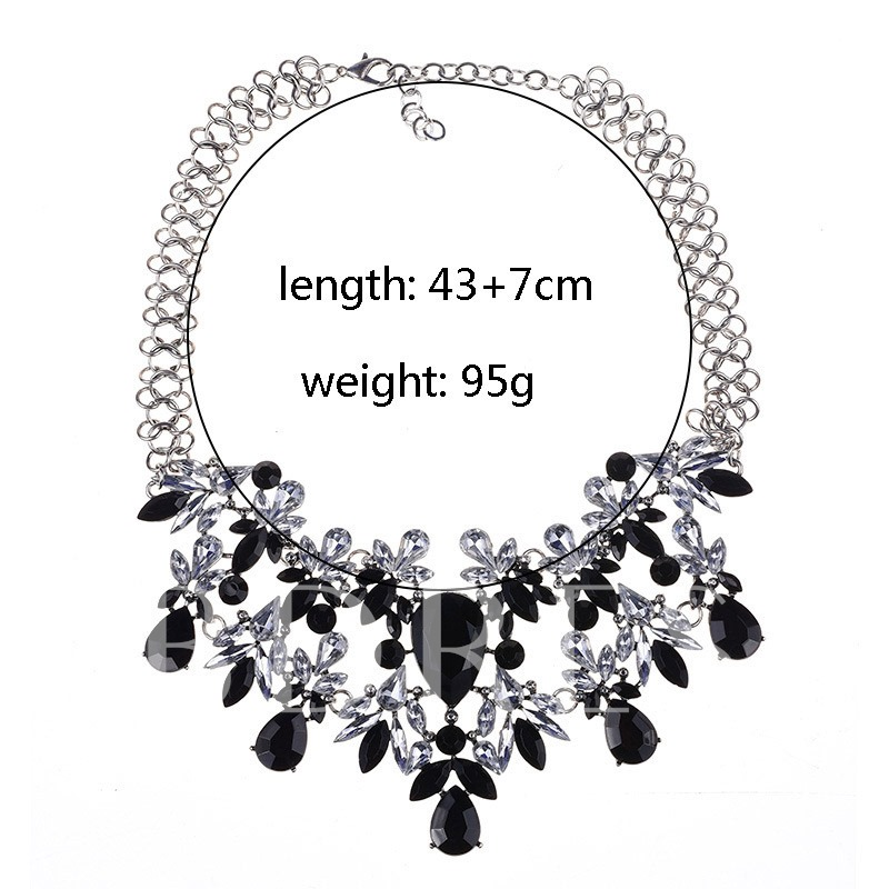 Pendant Necklace Crystal Inlaid Romantic Female Necklaces