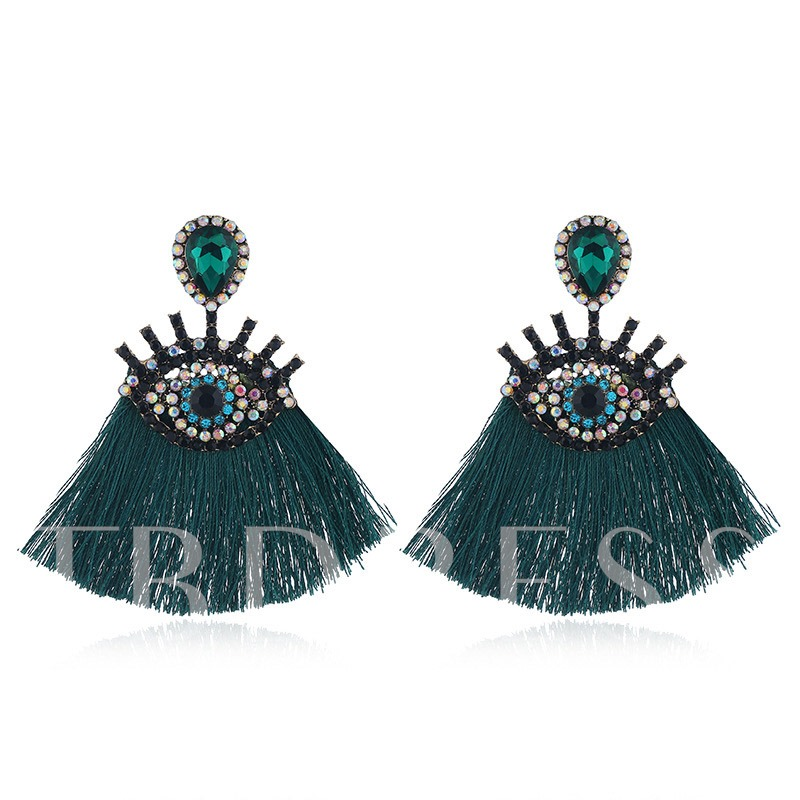 Alloy Diamante Vintage Party Earrings