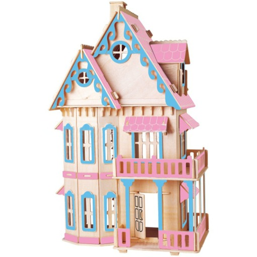 Wooden Architecture Color BlockUniversal Three-Dimensional Puzzle