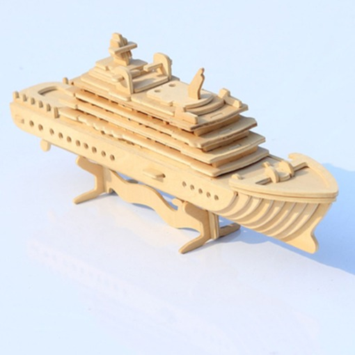 Wooden Plain Vehicle Universal Three-Dimensional Puzzle
