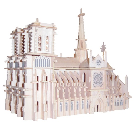 Wooden Architecture Universal Three-Dimensional Puzzle