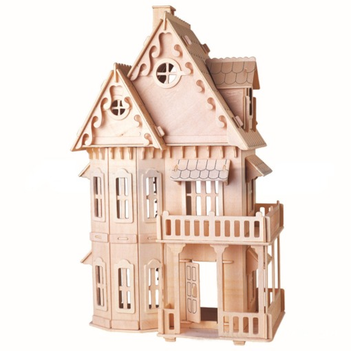 Wooden Architecture Universal 51-100 Three-Dimensional Puzzle