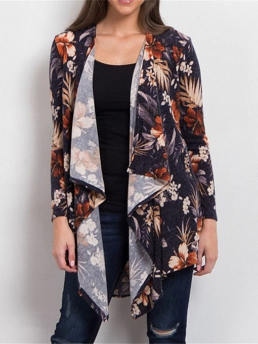 Print Mid-Length Plant Loose Flower Women's Blouse