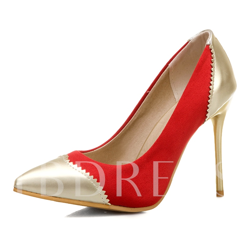 Pointed Toe Slip-On Stiletto Heel Thread Low-Cut Upper Thin Shoes