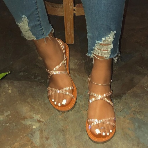 Flat With Slip-On Open Toe Casual Sandals