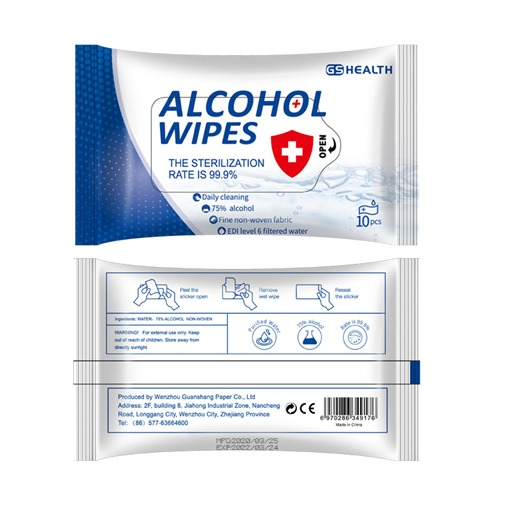 Cleaning Cloths 10 Tablets With Ce Certified Alcohol Wipes