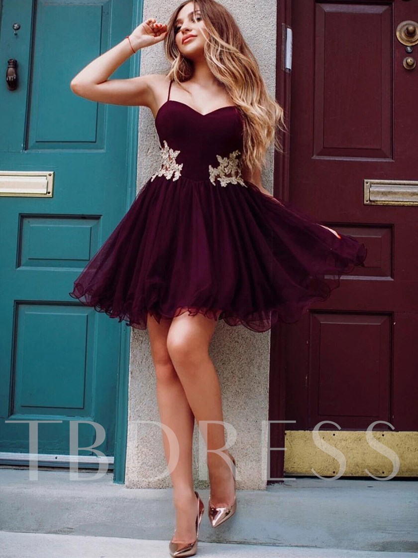 Floor-Length Ball Gown Spaghetti Straps Appliques Formal Dress 2020