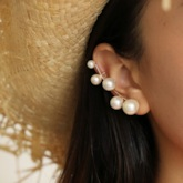 Alloy Pearl Inlaid Sweet Party Earrings