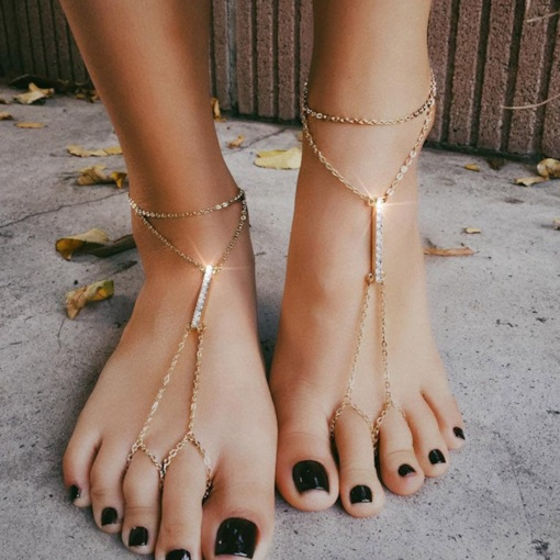 Fashion Female Sweet Diamante Anklets Anklets