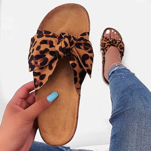 Flip Flop Slip-On Bow Flat With EVA Slippers