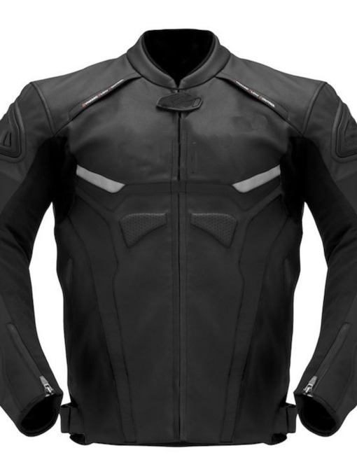 Stand Collar Standard Casual Men's Leather Jacket