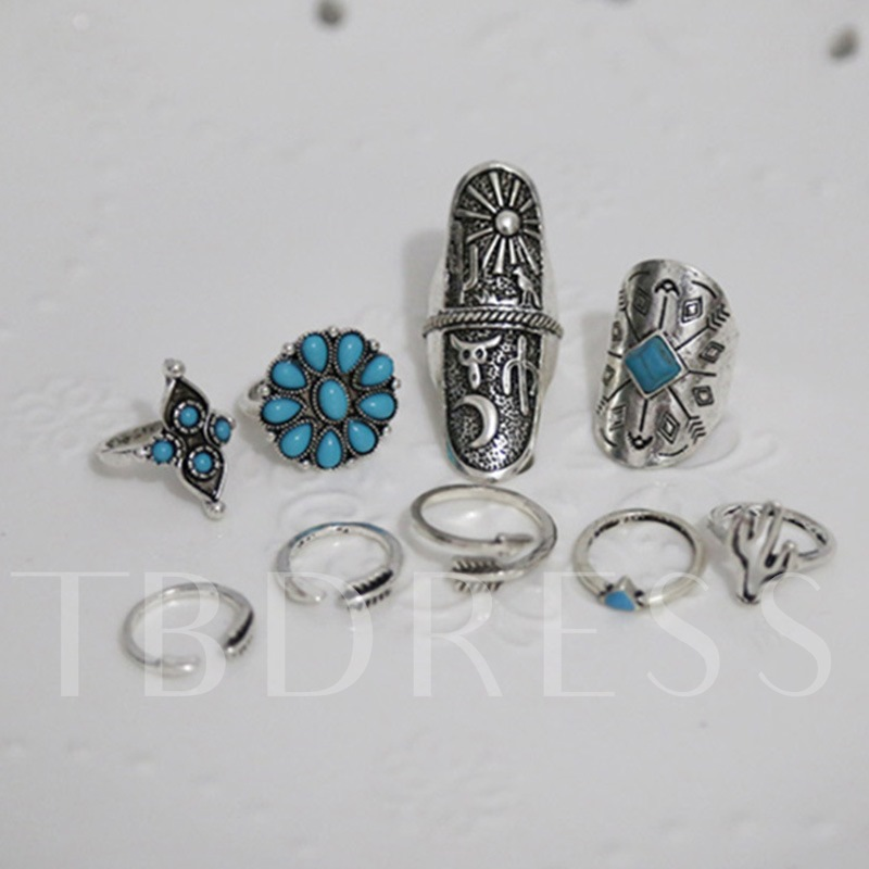 E-Plating Ethnic Party Rings Women Fashion Rings
