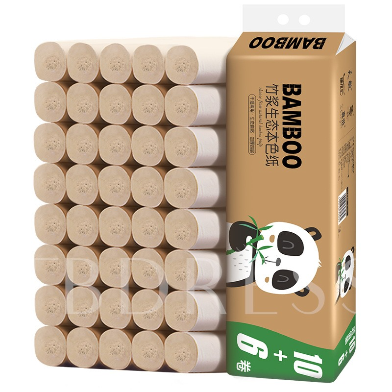 48Rolls Wholesale Household Toilet Paper With Thickened Paper Towel Roll