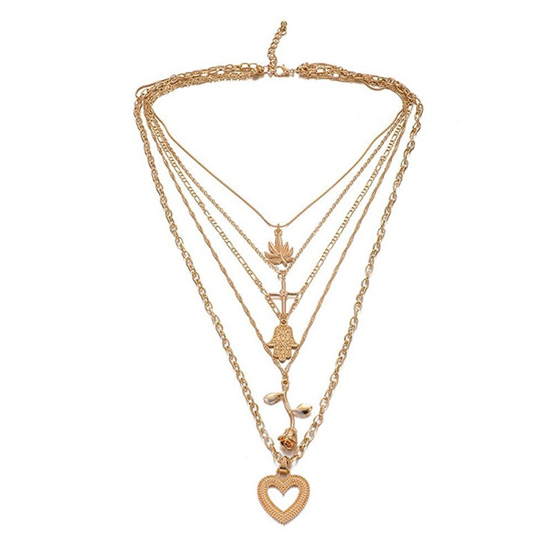 Women E-Plating Sweet Pendant Necklace Female Necklaces