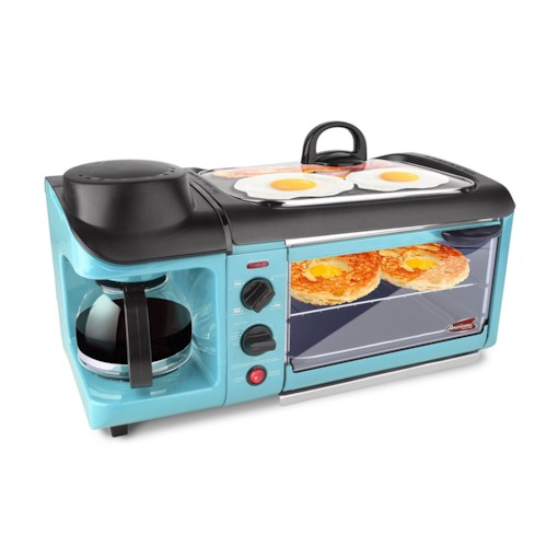 Rectangle Applicable People Number 2-3 Coffee Maker And Toaster Oven Breakfast Station