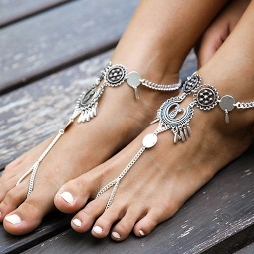 Vintage Female E-Plating Anklets Anklets Fashion Anklets