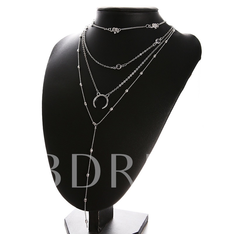 Female Sweet E-Plating Pendant Necklace Necklaces
