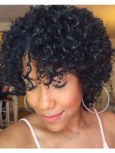 Women Curly 10 Inches 120% Wigs