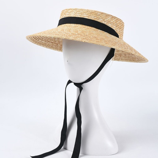 Straw Hat Straw Plaited Article Casual Plain Hats