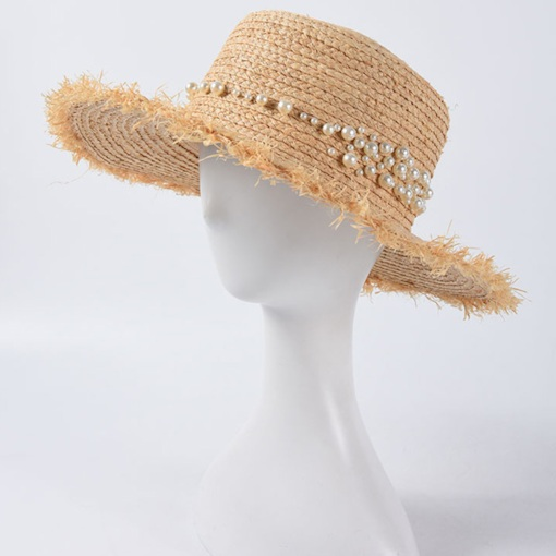Straw Plaited Article Bead Straw Hat Spring Hats