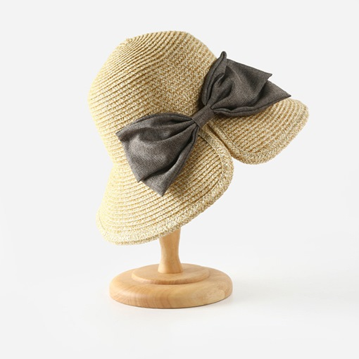 Straw Hat Straw Plaited Article Sweet Color Block Hats