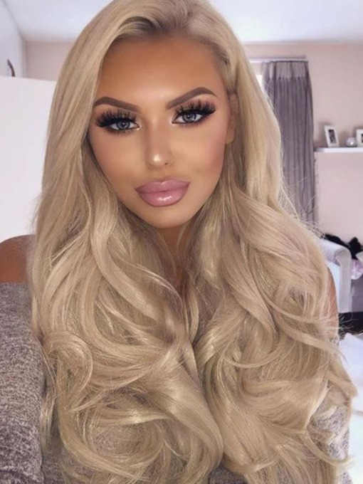 Synthetic Hair Capless 26 Inches 120% Wigs