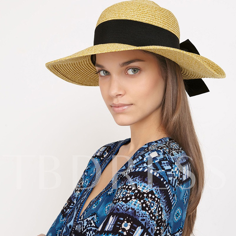 Casual Bowknot Straw Hat Summer Hats