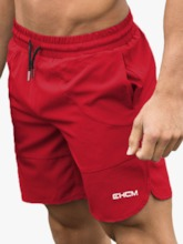 Loose Lace-Up Men's Shorts