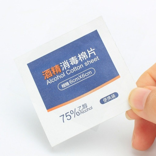5 Packs 100 Pieces Alcohol Disinfection Wipes