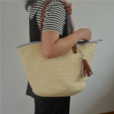 Women Knitted Tote Bags Straw Bags