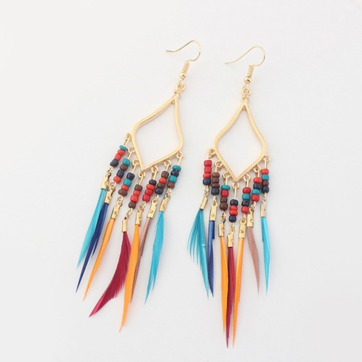 Bohemian Tassel Alloy Holiday Earrings