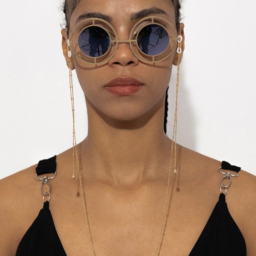 Fashion Simple Beaded Water Drop Glasses Chain Hanging Neck Non-slip Glasses Rope
