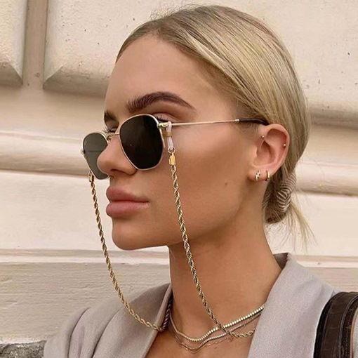 Fashion Simple Metal Twist Glasses Chain Hanging Neck Non-slip Glasses Rope