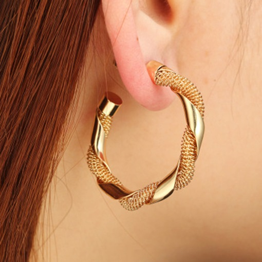 Women E-Plating Vintage Alloy Anniversary Earrings