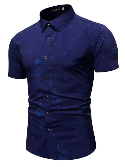 Lapel Slim Men's Shirt