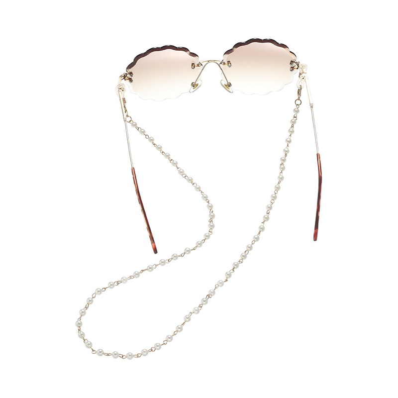 Fashion Simple Beaded Water Drop Glasses Chain Hanging Neck Non-slip Sunglasses Rope