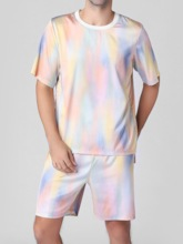 Short Sleeve Summer Men's Pajamas Sets