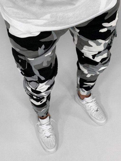 Camouflage Pencil Pants European Men's Jeans