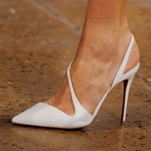 Stiletto Heel Pointed Toe Slip-On Hollow Casual Thin Shoes