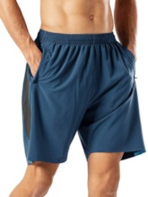 Loose Plain Casual Men's Shorts