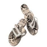 Rhinestone Thong Slip-On Flat With Rubber Slippers