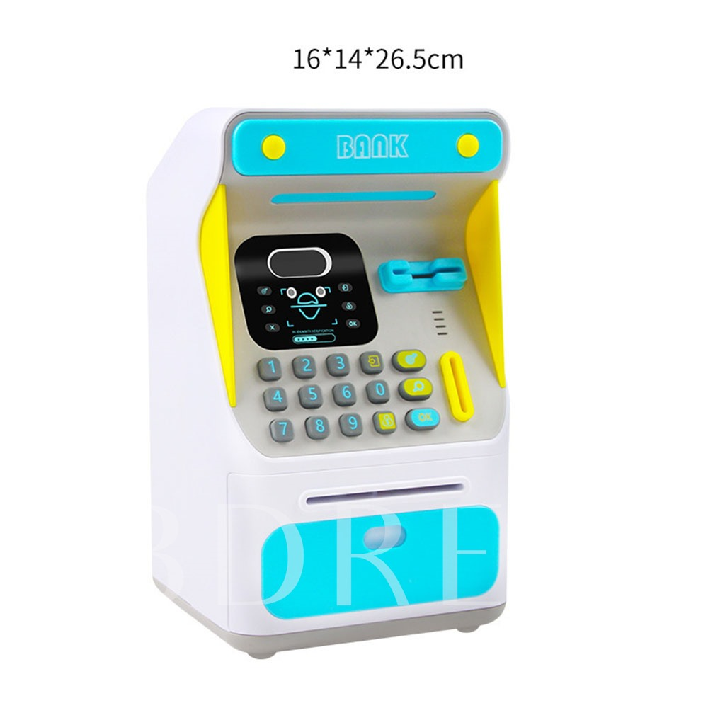 Face Recognition ATM Machine Money Box Simulation Password Safe Piggy Bank Educational Toys