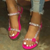 Open Toe Flat With Buckle Low-Cut Upper Sandals