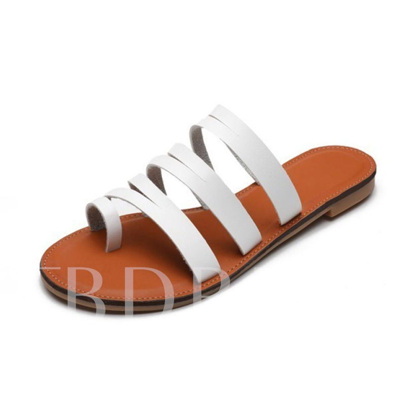 Flat With Slip-On Hollow Flip Flop Summer Slippers