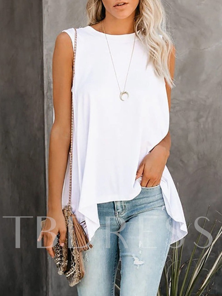 Summer Polyester Mid-Length Women's Tank Top